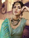 photo of Eid Special Net Fabric Reception Wear Designer Embroidered Beige Lehenga