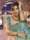 photo of Eid Special Reception Wear Satin Silk Embroidered Pink Designer Lehenga Choli