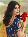 photo of Art Silk Fabric Blue Color Wedding Function Wear Designer Embroidered Lehenga Choli