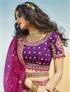 photo of Silk Fabric Bridal Wear 3 Piece Lehenga Choli
