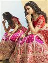 photo of Rani Color Silk Fabric Bridal Wear Lehenga Choli
