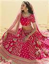 photo of Silk Fabric Pink Color Bridal Wear 3 Piece Lehenga Choli