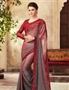 image of Eid Special Embroidery Work On Maroon Designer Saree In Art Silk Fabric With Designer Blouse