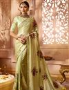 image of Designer Wedding Function Wear Fancy Fabric Beige With Heavy Blouse