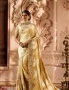 image of Sangeet Wear Embellished Saree In Fancy Fabric With Heavy Blouse