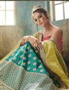 photo of Satin Fabric Sangeet Wear Lehenga With Embroidery Work In Teal