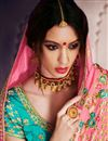 photo of Sangeet Wear Pink Art Silk Designer Saree With Embroidered Blouse