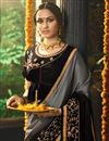 photo of Function Wear Fancy Fabric Black Embroidered Saree With Designer Blouse