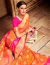 picture of Function Wear Designer Embroidered Saree In Jacquard Silk Fabric With Two Blouses