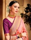 photo of Wedding Wear Fancy Designer Function Wear Jacquard Silk Fabric Saree With Two Blouses