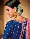 picture of Jacquard Silk Fabric Designer Wedding Function Wear Fancy Saree With Two Blouses