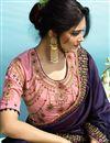 photo of Purple Embroidery Designs On Art Silk Occasion Wear Beatific Saree
