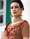 photo of Surbhi Jyoti Velvet Embroidered Wedding Wear Lehenga Choli