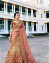 image of Surbhi Jyoti Velvet Embroidered Wedding Wear Lehenga Choli