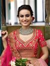 photo of Best Selling Surbhi Jyoti Wedding Function Wear Designer Lehenga In Art Silk Crimson