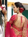 picture of Best Selling Surbhi Jyoti Wedding Function Wear Designer Lehenga In Art Silk Crimson