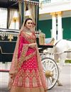 image of Best Selling Surbhi Jyoti Wedding Function Wear Designer Lehenga In Art Silk Crimson