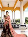 image of Jasmin Bhasin Velvet Brown Designer Wedding Wear Lehenga Choli