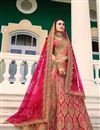 image of Surbhi Jyoti Fancy Fabric Pink Wedding Function Wear Lehenga Choli