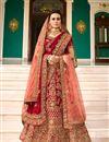 image of Surbhi Jyoti Sangeet Ceremony Wear Designer 3 Piece Lehenga Choli In Fancy Fabric