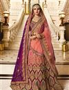 image of Jasmin Bhasin Purple Sangeet Ceremony Wear Designer Lehenga Choli In Fancy Fabric