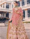 image of Surbhi Jyoti Embroidered Lehenga Choli In Fancy Fabric Pink