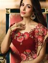 photo of Malaika Arora Designer Fancy Fabric Wedding Function Wear Chikoo Color Embroidered Lehenga