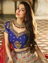 photo of Malaika Arora Wedding Wear Cream Color Designer Embroidered Lehenga In Fancy Fabric