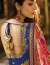 picture of Malaika Arora Wedding Wear Cream Color Designer Embroidered Lehenga In Fancy Fabric