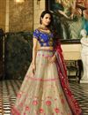 image of Malaika Arora Wedding Wear Cream Color Designer Embroidered Lehenga In Fancy Fabric