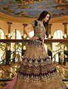 image of Malaika Arora Reception Wear Fancy Fabric Designer Lehenga Choli In Wine Color