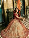 photo of Malaika Arora Silk Fabric Beige Wedding Function Wear Fancy Lehenga