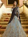 image of Malaika Arora Sangeet Wear Grey Designer Lehenga Choli In Silk Fabric