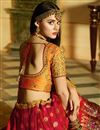 picture of Embellished Red Lehenga Choli For Functions In Silk Fabric