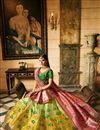photo of Fucntion Wear Fancy Yellow Lehenga Choli In Silk Fabric With Work