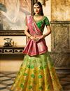 image of Fucntion Wear Fancy Yellow Lehenga Choli In Silk Fabric With Work