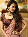 photo of Malaika Arora Embellished Pink Lehenga Choli For Functions In Silk Fabric