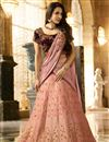 image of Malaika Arora Embellished Pink Lehenga Choli For Functions In Silk Fabric