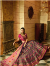 photo of Silk Fabric Embroidered Function Wear Lehenga Choli In Purple