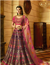 image of Silk Fabric Embroidered Function Wear Lehenga Choli In Purple