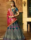 image of Silk Fabric Teal Designer Wedding Function Wear Lehenga Choli