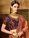 photo of Red Silk Fabric Designer Embellished Fancy Lehenga Choli
