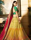 photo of Wedding Function Wear Yellow Designer Lehenga In Silk Fabric
