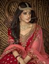 photo of Art Silk Wedding Function Wear Fancy Red Embroidered 3 Piece Lehenga Choli