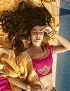photo of Jacquard Silk Embroidered Designer Sangeet Function Wear Magenta Fancy Lehenga Choli