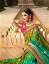 picture of Art Silk Fancy Sangeet Function Wear Green Embroidered designer Saree