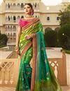 image of Art Silk Fancy Sangeet Function Wear Green Embroidered designer Saree