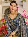 photo of Grey Designer Art Silk Sangeet Function Wear Fancy Embroidered Saree