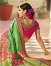 picture of Designer Sangeet Function Wear Art Silk Fancy Embroidered Saree In Sea Green