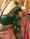photo of Banarasi Silk Pink Designer Saree With Embroidery Designs